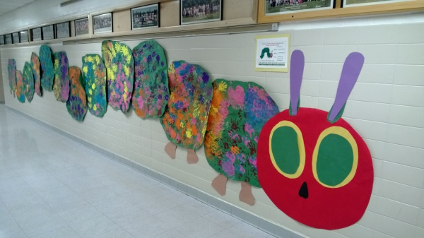 The Very Hungry Caterpillar visits Brookhaven ES